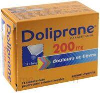 Doliprane 200 Mg Poudre Pour Solution Buvable En Sachet-dose B/12 à Ustaritz