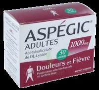 Aspegic Adultes 1000 Mg, Poudre Pour Solution Buvable En Sachet-dose 30 à Ustaritz
