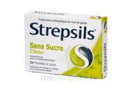 Strepsils Citron Sans Sucre, Pastille édulcorée à L'isomalt, Au Maltitol Et à La Saccharine Sodique à Ustaritz