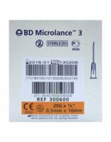 Bd Microlance 3, G25 5/8, 0,5 Mm X 16 Mm, Orange  à Ustaritz