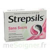 Strepsils Fraise Sans Sucre, Pastille édulcorée à L'isomalt, Au Maltitol Et à La Saccharine Sodique à Ustaritz