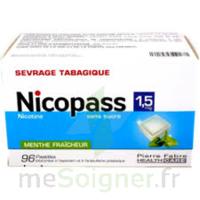 Nicopass 1,5 Mg Pastille Sans Sucre Menthe Fraîcheur Plq/96 à Ustaritz