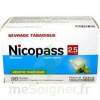 Nicopass 2,5 Mg Pastille Menthe Fraîcheur Sans Sucre Plq/96 à Ustaritz