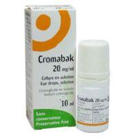 Cromabak 20 Mg/ml, Collyre En Solution à Ustaritz
