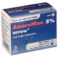 Amorolfine Arrow 5 % V Ongles Médicamenteux 1fl/2,5ml+30spat à Ustaritz