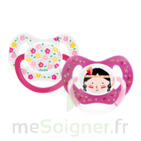 Dodie Duo Sucette Anatomique Silicone +18mois Girly à Ustaritz