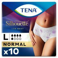 Tena Lady Silhouette Slip Absorbant Blanc Normal Large Paquet/10 à Ustaritz